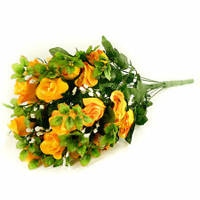 Artificial silk Rose & Gyp flower bouquet 55cm 24 stems of Yellow Roses
