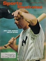 1965 Sports Illustrated,Baseball,magazine,Mickey Mantle New York Yankees~Label