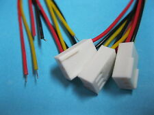 10 pcs 2510 Pitch 2.54mm 3 Pin Female Connector with 26AWG 300mm Leads Cable