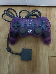 Nyko Platinum Series Viper 2 PlayStation PS2 Purple Controller