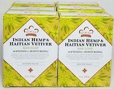 Indian Hemp & Hatian Vetiver bar soap with neem oil -  5oz ea (6-pack)