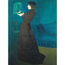 Rippl Ronai Jozsef Woman With A Birdcage Large Canvas Art Print