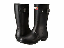 Hunter ORIGINAL SHORT Womens Black WFS1000RMA Rubber Waterproof Rain Snow Boots