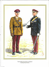WARRANT OFFICER. 2nd CLASS & CAPTAIN. KINGS ROYAL HUSSARS.MILITARY PRINT
