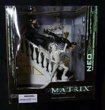 Matrix Reloaded Movie Neo Chateau 2 Figure Deluxe Box Set New McFarlane Toys