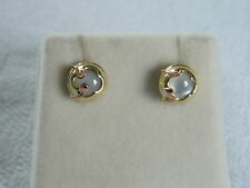 Clogau 9ct Gold Tudor Court Mother of Pearl Stud Earrings RRP £280.00