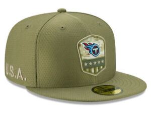 TENNESSEE TITANS SALUTE TO SERVICE NEW ERA HAT 59FIFTY FITTED NFL FOOTBALL CAP