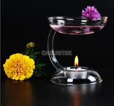 Glass Candlestick Candle Holder Art Aroma Oil Burner Warmer Stove Hold Tealight