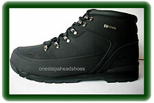 NEW MENS HIKER SAFETY STEEL TOE CAP WORK  ANKLE TRAINER BOOTS BLACK SIZE uk 9