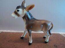 Miniatura Vintage Pintado A Mano/hecha a mano de cerámica Burro/potro (como Nuevo) peculiar del artículo.