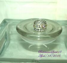 Vintage Style Awesome Clear Transparent Rhinestone Dome shame Plastic Sz 8 Ring
