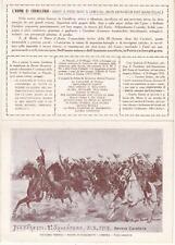A6098) PINEROLO 1924, CAVALLERIA NELLA WW1, 2 SQUADRONE DEL GENOVA A FIASCHETTI