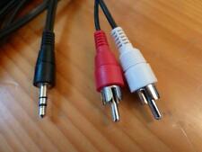Kabel 1,5m Klinke Klinkenstecker 3,5mm auf 2 mal Cinch Stecker RCA