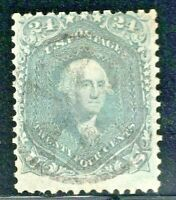 [X]  US #70b Used [Very Lightly Cancelled]1861 Steel Blue Variety