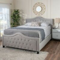 Livi Fabric Fully Upholstered Queen Bed Set
