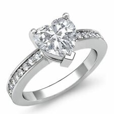 Ring For Women In 925 Silver Brilliant Heart Shaped Stone Lovable Engagement