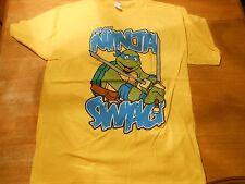 "LICENSED TURTLES TMNT ""I'VE GOT NINJA SWAG"" YELLOW T-SHIRT SIZE: L ***NEW***"