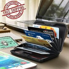 Aluminum Wallet RFID Blocking Safe Protection ID Holder Credit Card Case Travel