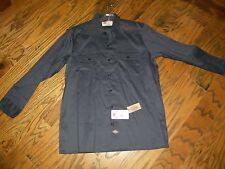 Dickies Long Sleeve 57CH Dark Gray Pocket Work Shirt NWT Size 16-16.5 x 36-37