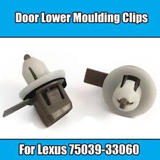 10x Clips For Lexus Door Lower Moulding Clips Brown White Plastic 75039-33060
