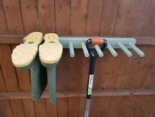 Wooden Wall Mounted Welly, Wellington Boot Rack, Wellie Stand, Painted