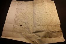 1488 - Large Parchment - TRANSFER OF LAND FIEF OF SACHE Signed TOURAINE BALZAC