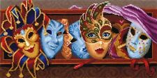 """Counted Cross Stitch Kit MAKE YOUR OWN HANDS - """"Masks"""""""