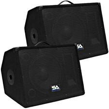 "Seismic Audio Pair 12"" Floor/Studio/Stage Monitors~New PA/DJ Speakers"