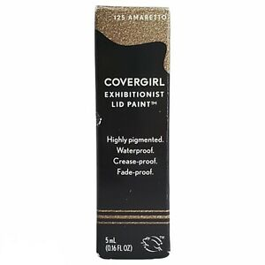 Covergirl Exhibitionist Lid Paint Shade 125 Amaretto 0.16 fl oz Waterproof New