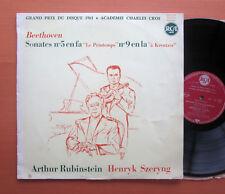 Beethoven Kreutzer & Spring Sonatas Rubinstein Szeryng RCA 630.539 French Mono