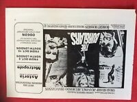 m78a ephemera 1972 film advert the burglars omar sharif dyan cannon