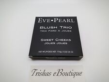 Eve Pearl Blush Trio  SWEET CHEEKS - Peach, Pink, Bronze .32 Oz Full Size  BNIB