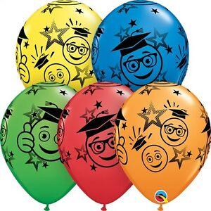 Smile Grad Latex Balloons EMOJI Graduation Party Decor Senior Elementary College