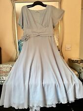 CHANGES BY TOGETHER CHIFFON BIAS CUT FLOATY OCCASION DRESS SIZE 20/22 WEDDING