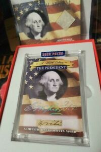 2020 A Word From The President George Washington Cut Word 'Write' + Vellum Relic