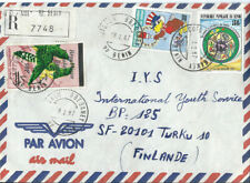 Benin fine Registered Airmail cover to Finland