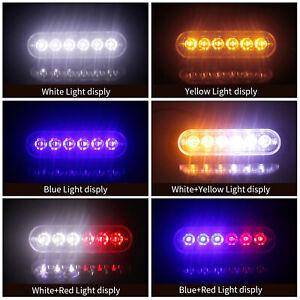 5x Amber/Yellow 6LED Emergency Warning Flash Strobe Light Beacon Caution ATF