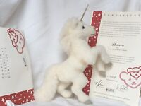 Steiff Unicorn EAN 038174 Ltd Ed of 1,500 Worldwide, fr 2005