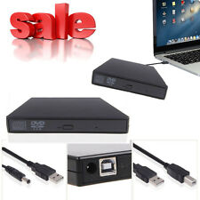 Black External USB 2.0 Region Free DVD Burner CD-RW ROM Player Drive PC Sale!