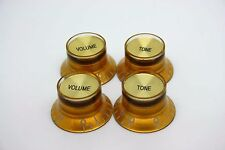 4X GOLD GOLD VOLUME & TONE TOP HAT KNOB GIBSON EPIPHONE STYLE - CTS BOURNS