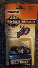 Matchbox Harley Davidson ElectraGlide Black Police Motorcycle.