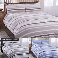 Polycotton Pillow Case Striped Bedding Sets & Duvet Covers