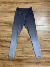 00006000 Zyia Active Gray Leopard Ombre High Rise Leggings Women's Size 2