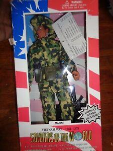"1997 Formative Soldiers of the World VIETNAM WAR MARINE Figure 12"" NIB"