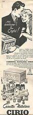 W1992 Cassetta Natalizia CIRIO - Pubblicità del 1958 - Vintage advertising
