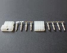"5 Sets Molex 4 Pin 0.093 .093"" Male Female Power Plug connector Arcade Pinball"