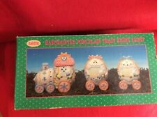 Easter Train Night Light Hand painted Porcelain Spring, Easter, W/Box & Lights