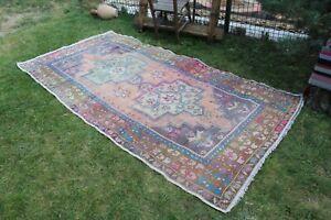 """Vintage Handmade Turkish Oushak Area Rug 8'7""""x4'4"""""""