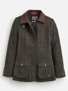 Joules Girls Fieldcoat Tweed Jacket Brand New, Various Sizes