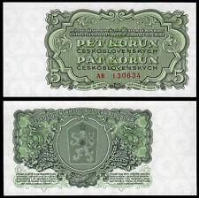 CZECHOSLOVAKIA 5 KORUN (P82b) 1961 UNC